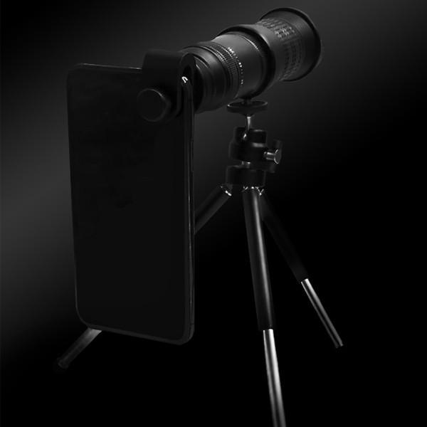 望遠レンズ スマホカメラレンズ スマホ望遠レンズ 最大30倍  最小18倍 倍率調整 スマホケース付き 三脚付き 軽量 宅急便|vaniastore|03