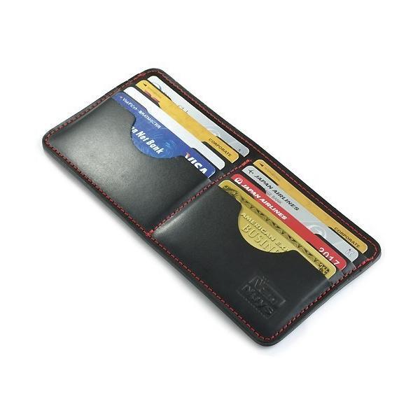 ぬめ革 の バッグイン カード ケース  ( 紙幣 ・ レシート 用 ポケット 付き ) < クレジットカード カードホルダー >