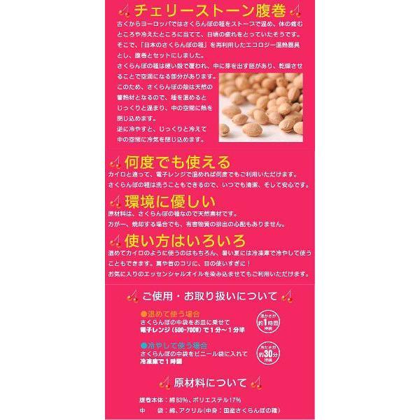 パイル腹巻きポケット付き サックス (FDS)日本製さくらんぼの種付|vantann|04