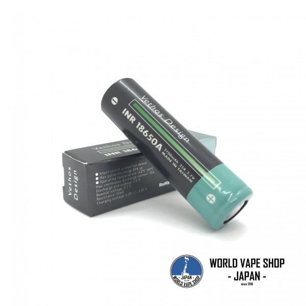 電子タバコ VAPE 超高出力バッテリー VETHOS DESIGN 18650 Battery べイプ 電子たばこ 電子煙草 爆煙 vapekobesannomiya