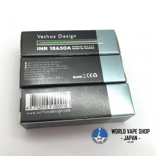 電子タバコ VAPE 超高出力バッテリー VETHOS DESIGN 18650 Battery べイプ 電子たばこ 電子煙草 爆煙 vapekobesannomiya 02
