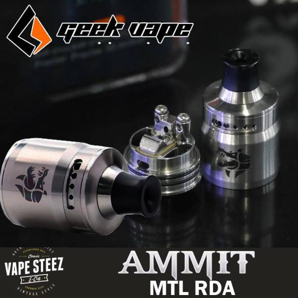 Geekvape AMMIT MTL RDA 22mm ( アミット ) シングルコイル 3D気流エアフローシステム|vapesteez