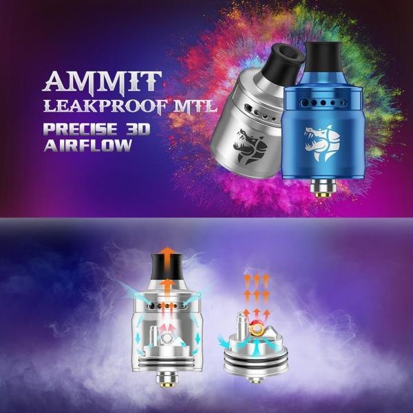 Geekvape AMMIT MTL RDA 22mm ( アミット ) シングルコイル 3D気流エアフローシステム|vapesteez|02