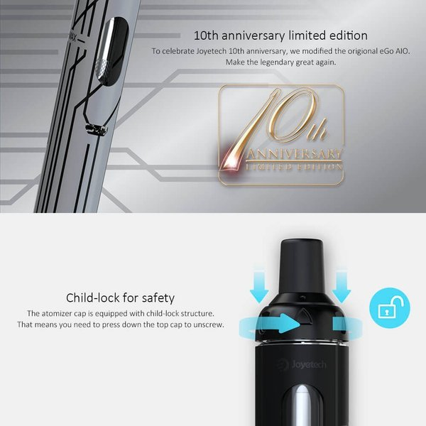 電子タバコ 本体 Joyetech eGo AIO リキッド最大10本 電子たばこ スターターキット ペンタイプ 禁煙補助 VAPE リキッド式タバコ|vapesteez|04