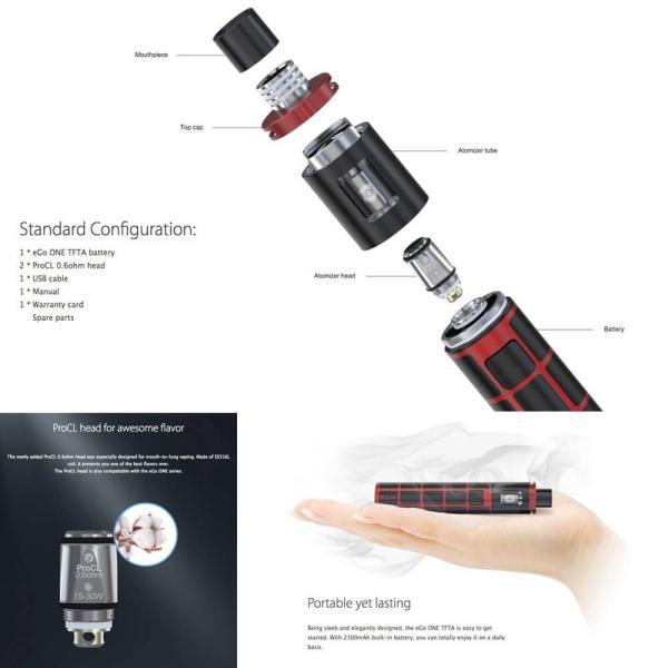 電子タバコ スターターキット Joyetech eGO ONE TFTA ペンタイプ チューブタイプ|vapesteez|02