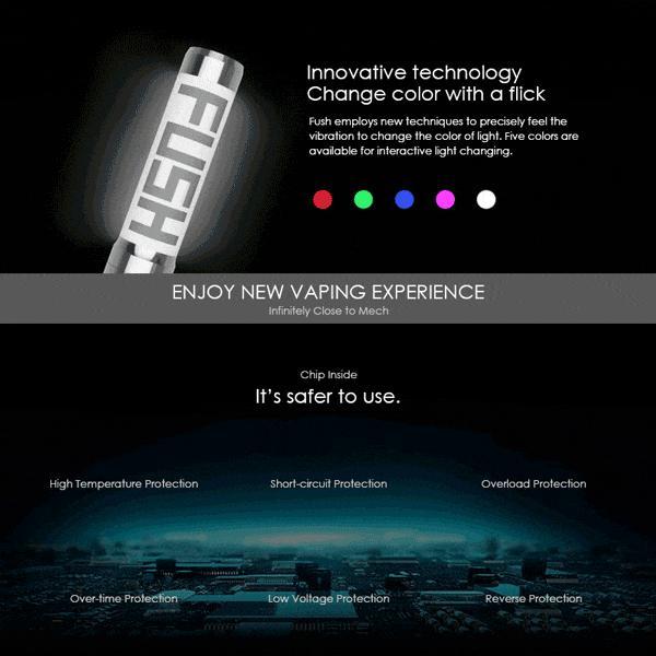 電子タバコ メカニカルMOD ACROHM FUSH Semi-Mech MOD LED 半メカニカル 18650バッテリー|vapesteez|03
