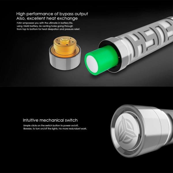 電子タバコ メカニカルMOD ACROHM FUSH Semi-Mech MOD LED 半メカニカル 18650バッテリー|vapesteez|05