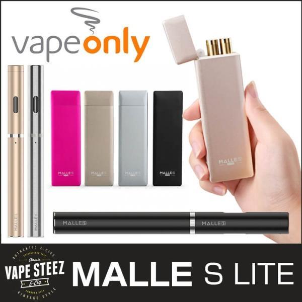 電子タバコ スターターキット Vapeonly MALLE S LITE シンプルケース 本体2本入り|vapesteez