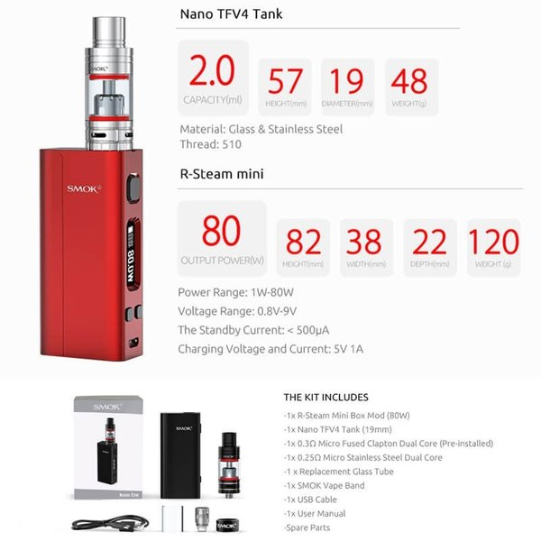 電子タバコ SMOK Nano One BOX MOD STARTER KITスターターキット 爆煙|vapesteez|03