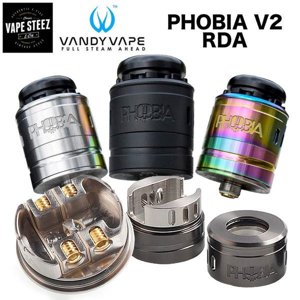 電子タバコ アトマイザー VANDYVAPE PHOBIA V2 RDA 24mm BF対応 ドリッパー|vapesteez