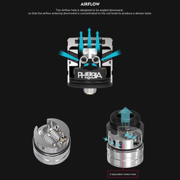 電子タバコ アトマイザー VANDYVAPE PHOBIA V2 RDA 24mm BF対応 ドリッパー|vapesteez|04