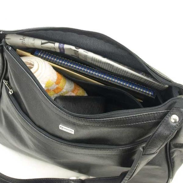 GUSTO(ガスト) 日本製 豊岡製鞄 ショルダーバッグ メンズ B5F 36cm No16257-01 クロ  ___ ___|vaps|02