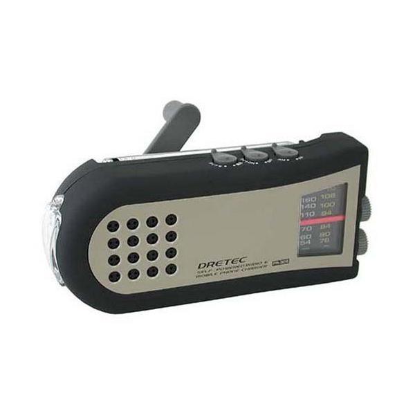 DRETEC/ドリテック 手回しケータイ充電ラジオ PR-306BK __ vaps