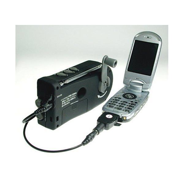 DRETEC/ドリテック 手回しケータイ充電ラジオ PR-306BK __ vaps 02