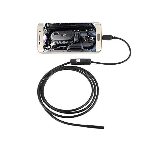 スマホ対応 カメラスコープ 《3.5m》 水溝 パイプライン 隙間 車 整備 検査 カメラ ファイバースコープ _