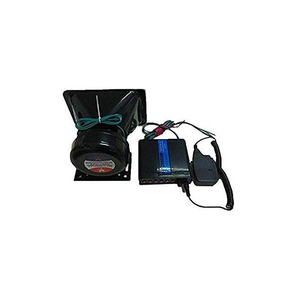 車載用拡声器 スピーカー アンプセット マイク付き 大音量 130db メガホン トラメガ ラウドスピーカー __