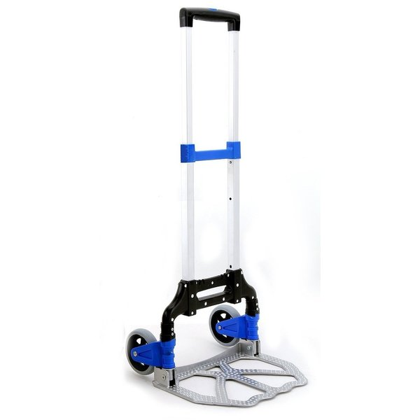 VAPS(ヴァップス) 折りたたみ式 キャリーカート 耐荷重70kg 軽量 コンパクト (ブルー) __