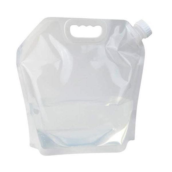 折りたたみ ポータブル 5L 水袋 クリア ウォータータンク ウォーターバッグ 5リットル 給水袋 防災 非常用 _