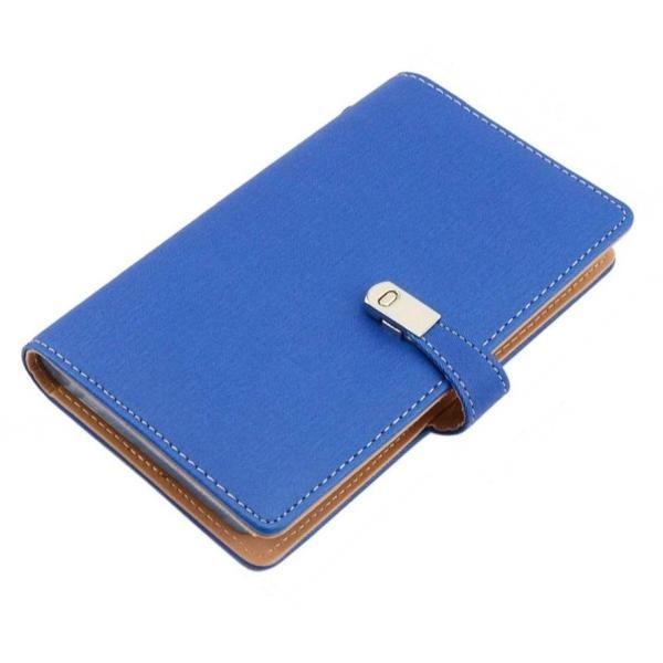 名刺ホルダー 240枚収納 《ブルー》 名刺入れ カードホルダー カードケース ビジネス シンプル PUレザー 名刺ファイル 大容量 __