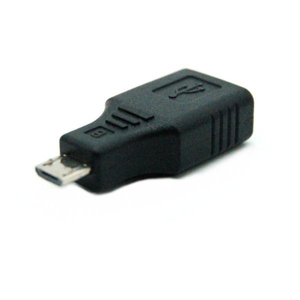 USBメス-MicroUSBオス OTG対応 変換アダプター _