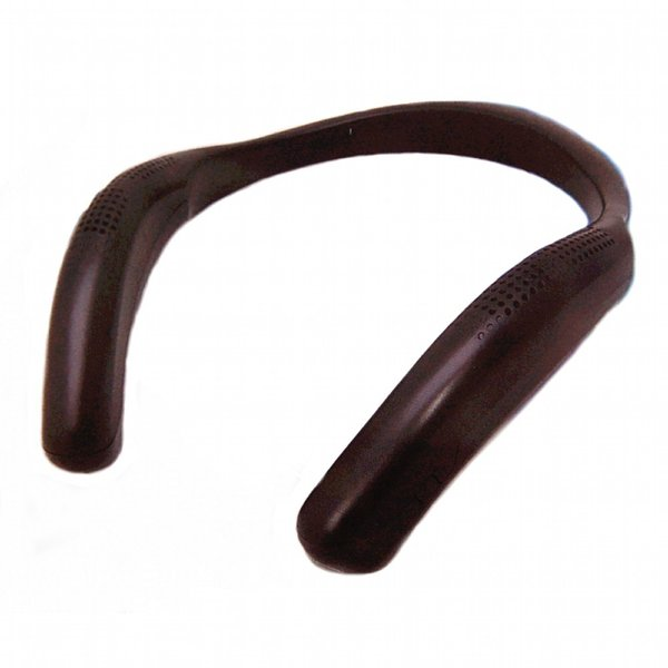 ウェアラブルスピーカー 《ブラック》 充電式 Bluetooth 4.2 ネックスピーカー ハンズフリー __|vaps