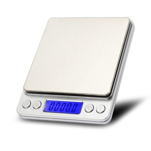 デジタルスケール 0.1g単位3kgまで 風袋機能 個数計算機能 計量器 電子秤 電子はかり __