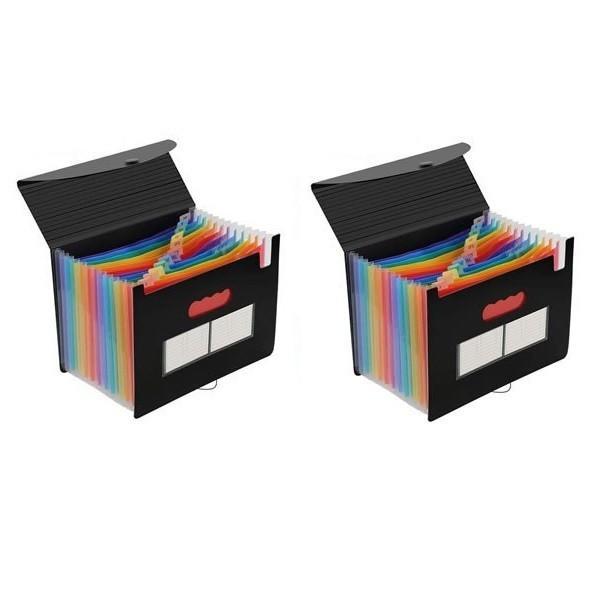 蓋付きファイルボックス 《2台セット》 書類ケース ドキュメントスタンド ファイルボックス __
