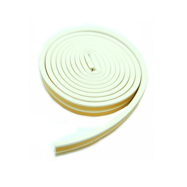 隙間テープ 《ホワイト》 長さ最大5m すきまテープ 防音 吸収 窓 ドア サッシ 虫 侵入防止 _