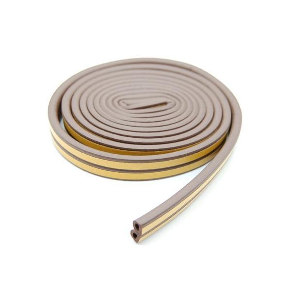 隙間テープ 《ブラウン》 《5m》 すきまテープ 防音 吸収 窓 ドア サッシ 虫 侵入防止 _