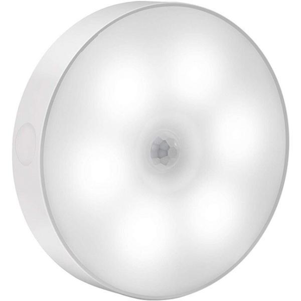 LED 人感センサーライト 小型 USB 充電式 室内 壁 取り付け 壁掛け 丸型 照明 _