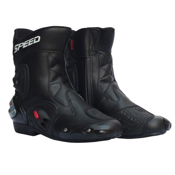 レーシングブーツ スポーツバイク用 強化防衛性 バイクブーツ スポーツブーツ バイク レーシングブーツ オートバイ靴 バイク用品 2色選ぶ vastmart 02