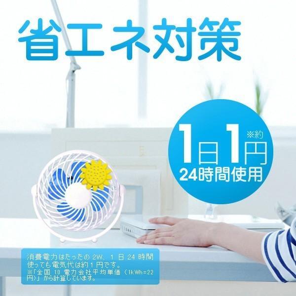 卓上扇風機 USB AC 2WAY電源 省エネ対策  アロマ対応 デスクファン おしゃれ コンパクトファン PRISMATE(プリズメイト)4インチ 扇風機 卓上 夏の涼・特集