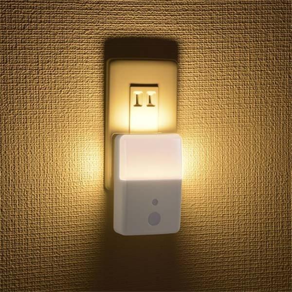 LEDナイトライト コンセント リモコン付き 足元灯 長寿命 省電力 屋内用 2段階調光 簡単操作 LEDライト 白色 橙色 照明器具|vastmart|07