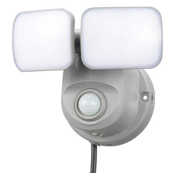 LEDセンサーライト 屋外 屋内 人感・明暗センサー付き2灯式  800lm コンセント 自動点灯 室内 廊下 階段 玄関 照明 防犯ライト 照明器具|vastmart|02