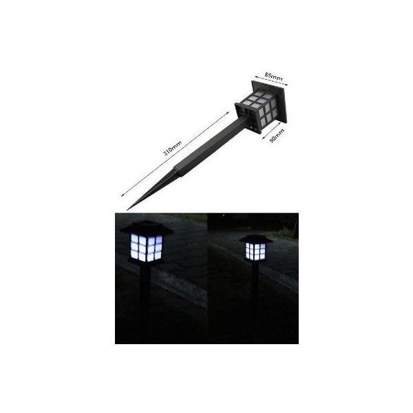 LEDソーラーライト LEDソーラー街灯 ソーラー外灯 電気代ゼロ LEDガーデンライト 電気代0円 ソーラー充電 LED庭園灯 屋外照明 2本セット 照明器具|vastmart|04