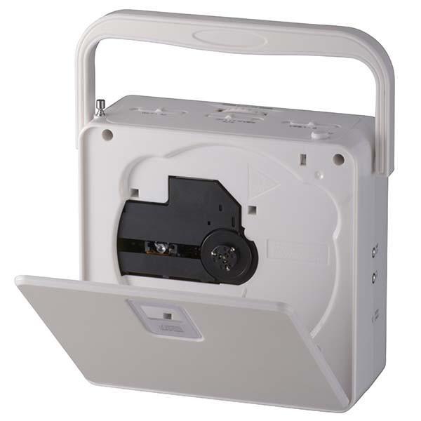 CDプレーヤー ポータブル CDラジオ CDプレーヤー コンパクト ステレオ 小型 CD−R/RW再生可能  AC/DCの2電源 CD再生機 ラジオ 白  RCR-400H-W|vastmart|03