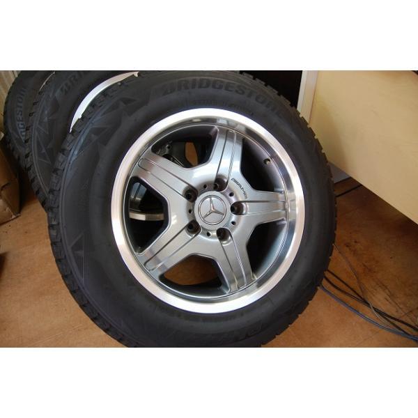 スタッドレスタイヤ付 AMG G55 純正ホイール ベンツW463 G320 G500 G350 純正アルミ スタッドレス ブリヂストン 純正アルミ|ve1|02