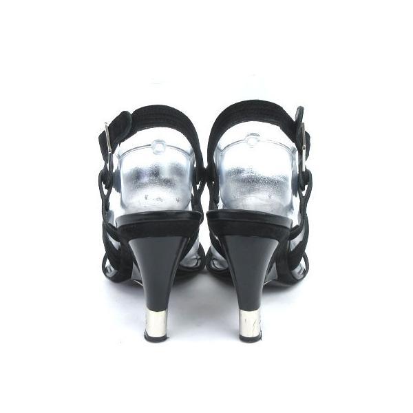 シャネル CHANEL サンダル ストラップ ヒール スウェード ココマーク 黒 ブラック 37 1/2  靴 シューズ IBS1 レディース【中古】【ベクトル 古着】|vectorpremium|03