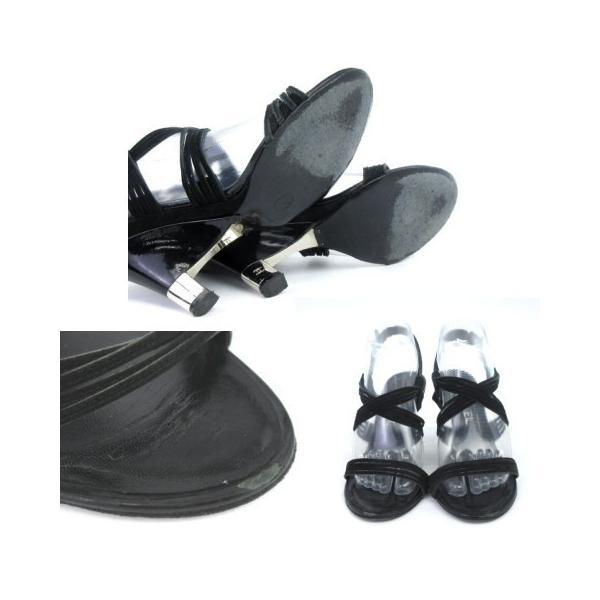 シャネル CHANEL サンダル ストラップ ヒール スウェード ココマーク 黒 ブラック 37 1/2  靴 シューズ IBS1 レディース【中古】【ベクトル 古着】|vectorpremium|05