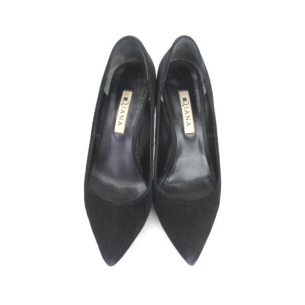 ダイアナ DIANA パンプス ポインテッドトゥ スエード 黒 ブラック 24 シューズ 靴 レディース 【中古】【ベクトル 古着】|vectorpremium|07