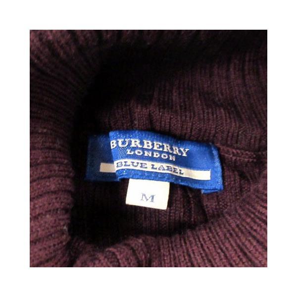 【中古】バーバリーブルーレーベル BURBERRY BLUE LABEL ニット セーター 長袖 ウール タートル リブ ロゴ M レディース 【ベクトル 古着】|vectorpremium|04