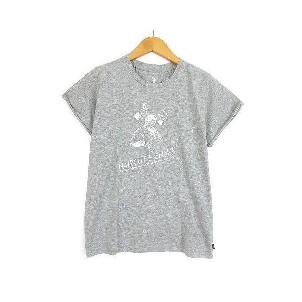 ジュール ド ランゲージ Jour de Language カットソー Tシャツ 半袖 プリント グレー 2 レディース【中古】【ベクトル 古着】
