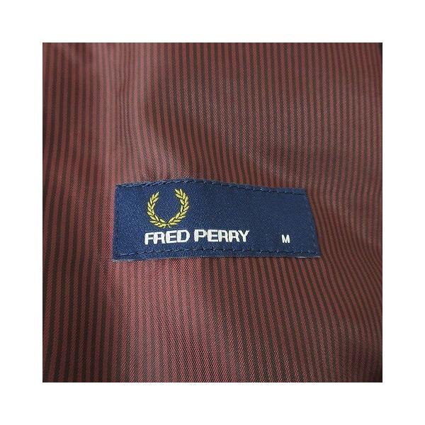 【中古】フレッドペリー FRED PERRY テーラードジャケット 2B ブレザー ベロアパイピング M 黒 ボルドー/d40 メンズ 【ベクトル 古着】 vectorpremium 07