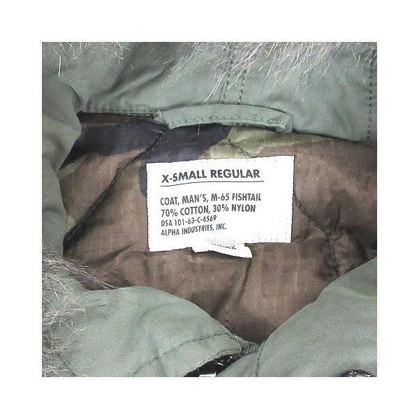 【中古】アルファ ALPHA INDUSTRIES モッズ コート M-65 中綿 フェイクファー フィッシュテール カーキ XS アウター ミリタリー メンズ 【ベクトル 古着】|vectorpremium|03