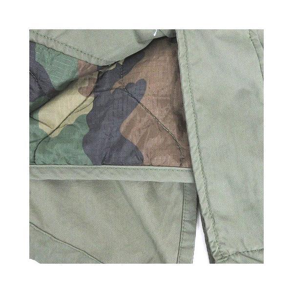 【中古】アルファ ALPHA INDUSTRIES モッズ コート M-65 中綿 フェイクファー フィッシュテール カーキ XS アウター ミリタリー メンズ 【ベクトル 古着】|vectorpremium|06
