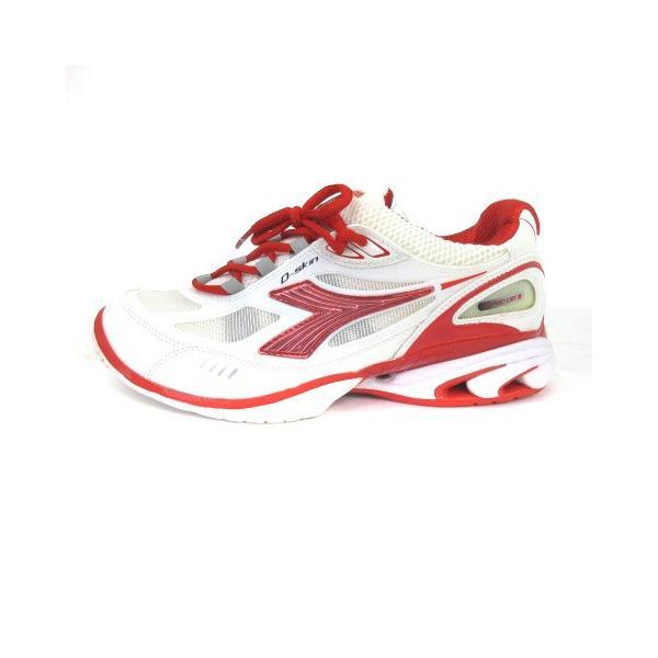 【中古】ディアドラ DIADORA スニーカー シューズ スピードプロWI5 III SG メッシュ 白 赤 スポーツ テニス 24 靴 メンズ レディース 【ベクトル 古着】|vectorpremium|02