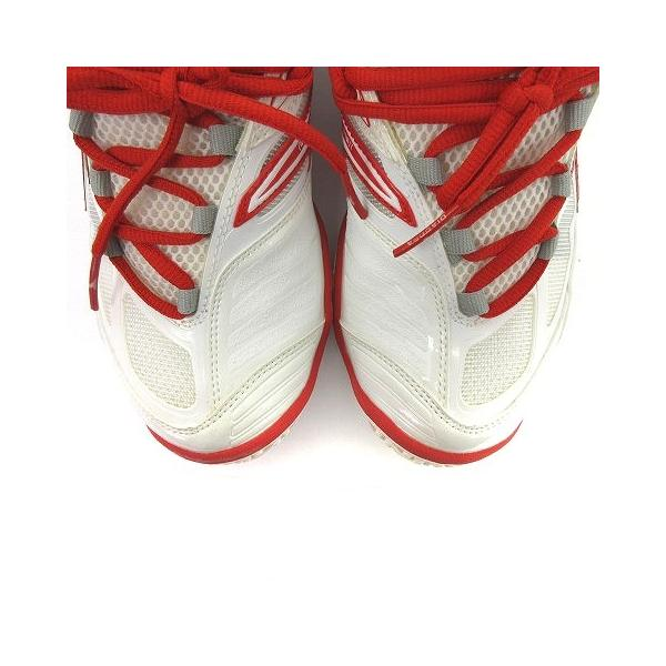 【中古】ディアドラ DIADORA スニーカー シューズ スピードプロWI5 III SG メッシュ 白 赤 スポーツ テニス 24 靴 メンズ レディース 【ベクトル 古着】|vectorpremium|04