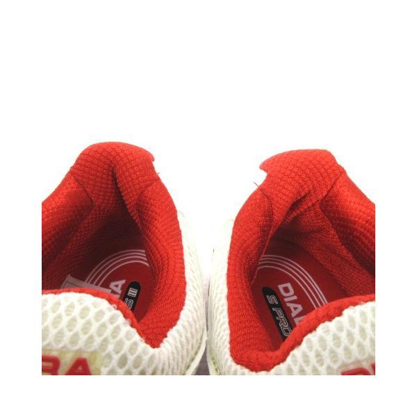 【中古】ディアドラ DIADORA スニーカー シューズ スピードプロWI5 III SG メッシュ 白 赤 スポーツ テニス 24 靴 メンズ レディース 【ベクトル 古着】|vectorpremium|05