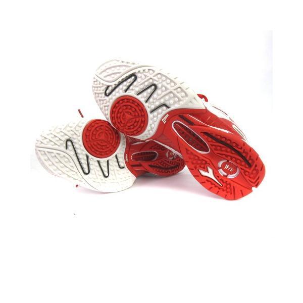 【中古】ディアドラ DIADORA スニーカー シューズ スピードプロWI5 III SG メッシュ 白 赤 スポーツ テニス 24 靴 メンズ レディース 【ベクトル 古着】|vectorpremium|06