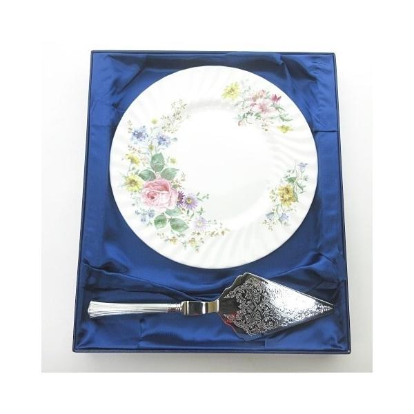 中古 未使用品ロイヤルドルトンROYALDOULTONARCADIAアルカディアケーキサーバーデザートプレート皿花柄ホワイト0